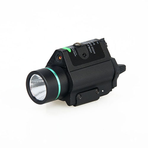 TRIJICON High Quality Luxury 3W-H2 Aluminum M6R  Torch Light With Green Laser for Rifle Scope Hunting  Accessory HS15-0097
