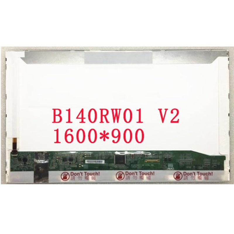 ¡Envío Gratis! B140RW01 V2 V.2 LP140WD1-TPD1 LTN140KT02 apto para HP elitebook 8440P 8440W pantalla Lcd de ordenador portátil 1600*900 EDP 30 pines