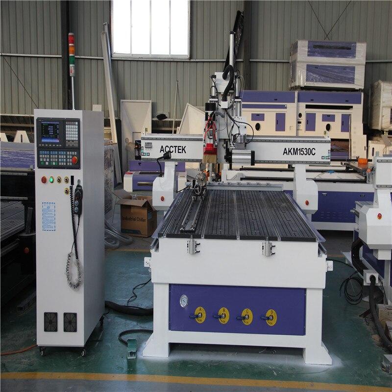 Multifuncional automático cnc torno de madeira atc 3d gravura cnc máquina roteador akm1530c