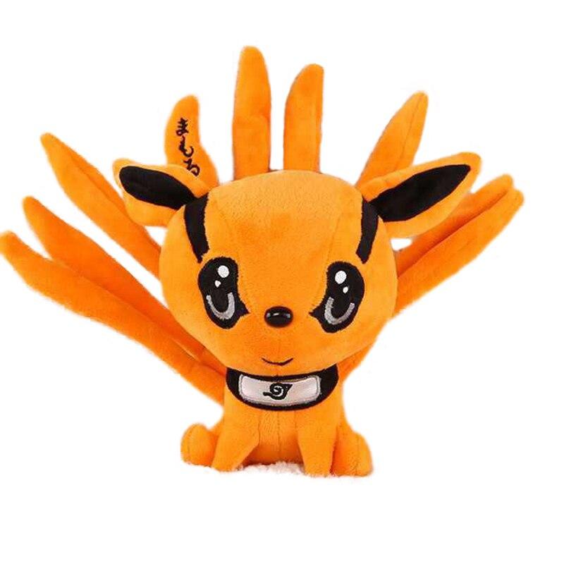 1 шт. 25 см милые Аниме Наруто кюююби Курама плюшевые куклы мягкие девять сказок Лиса животные игрушки креативные подарки для детей