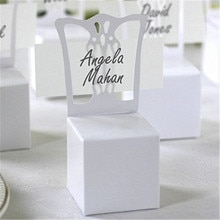 Grand oud Love 100 pièces   Chaise porte-carte et boîte à faveur, mieux pour les boîtes à bonbons et les faveurs de mariage, fournitures pour fête