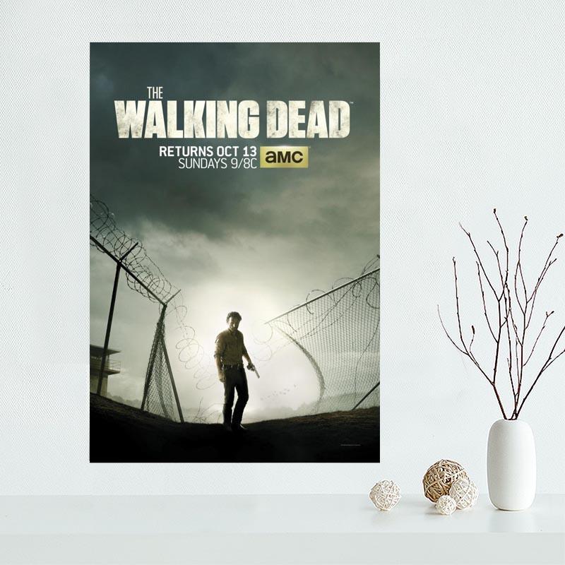 personalizzato-tela-walking-dead-poster-della-decorazione-di-arte-poster-di-stoffa-tessuto-poster-da-parete-stampa-tessuto-di-seta-vv008s