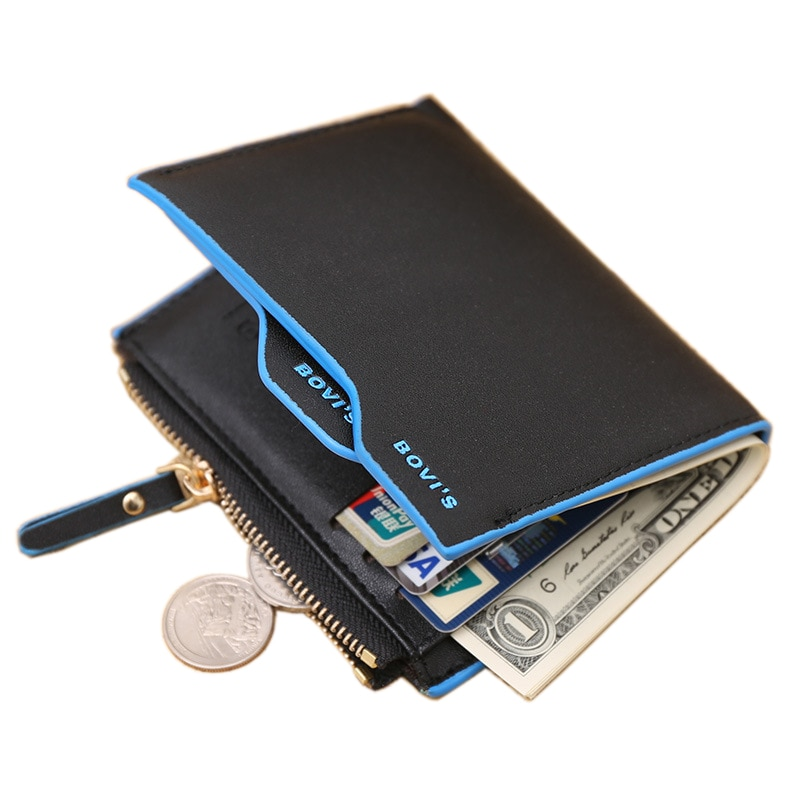 Fashion New Men Wallets PU Leather Bifold ID Holders Credit Card Holder Coin Purse Pockets Clutch Zi