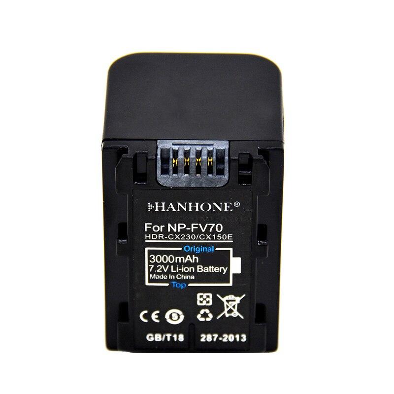 3000mAh NP-FV70 NP FV70 NPFV70 Battery for Sony NP-FV50 NP-FV60 NP-FV30 FV30 HDR-CX230 HDR-CX150E HDR-CX170 CX300 Z1 HDR-PJ430