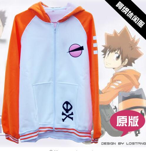 Katekyo hitman renascer traje cosplay anime tsunayoshi tsuna vongola sawada casaco moletom gokudera com capuz casaco com capuz