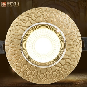 Loft European Style Luxury Pure Copper 3W 5W COB Downlights Copper LED Ceiling Lamp Indoor lights Cafe Store Hall