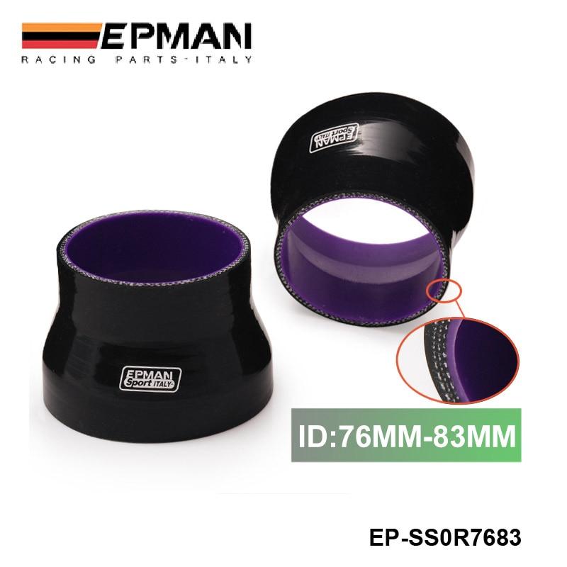 """Manguera reductora recta de silicona 3 """"-3,27"""" 76mm-83mm 4 capas negro para BMW E30 M20 325 325i 6cy 1988-1993 EP-SS0R7683"""