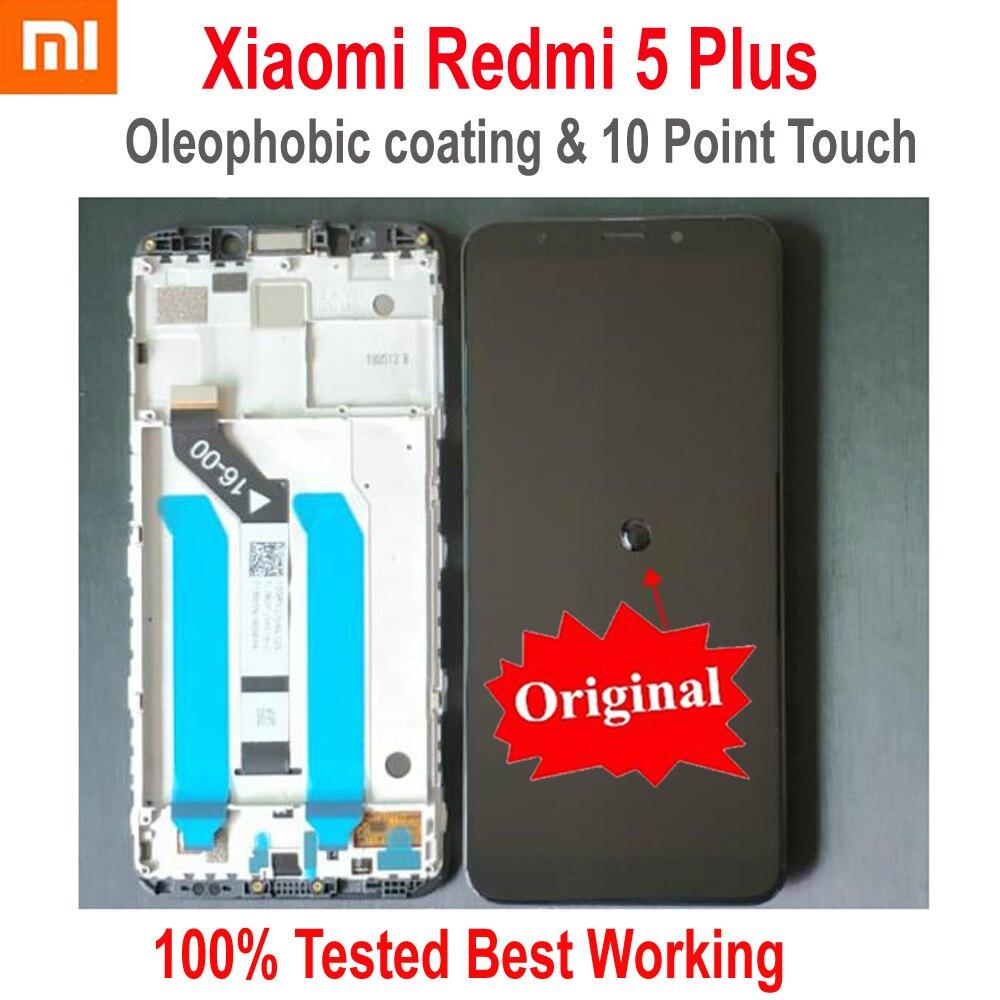 Original mejor Xiaomi Redmi 5 Plus IPS pantalla LCD 10 Punto de Contacto Montaje del digitalizador de pantalla Sensor + marco Redmi5 más MEG7 de vidrio