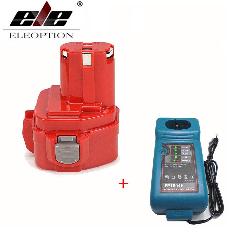 Añadir 2000mAh cargador 12V 12V Ni-CD 2.0Ah de herramienta de poder de reemplazo de la batería recargable para Makita 1220, 1233, 1201, 1222, 1223, 1235
