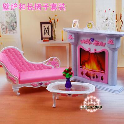 for barbie stove Doll Furniture Accessories Table fireplace sofa Dream Kitchen furniture Kitchenware Cabinet Stoves Play House