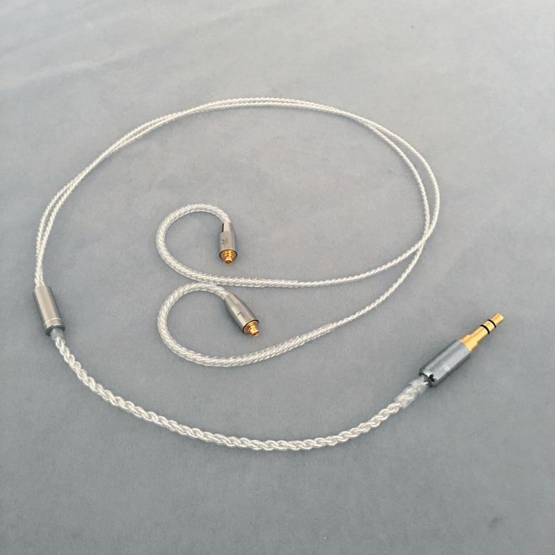 [해외] Diy 이어폰 와이어 짧은 케이블, 45cm-50cm, MMCX, ie80, im50, ue900, tf10, A2DC, 0.78qdc, 0.75QDC
