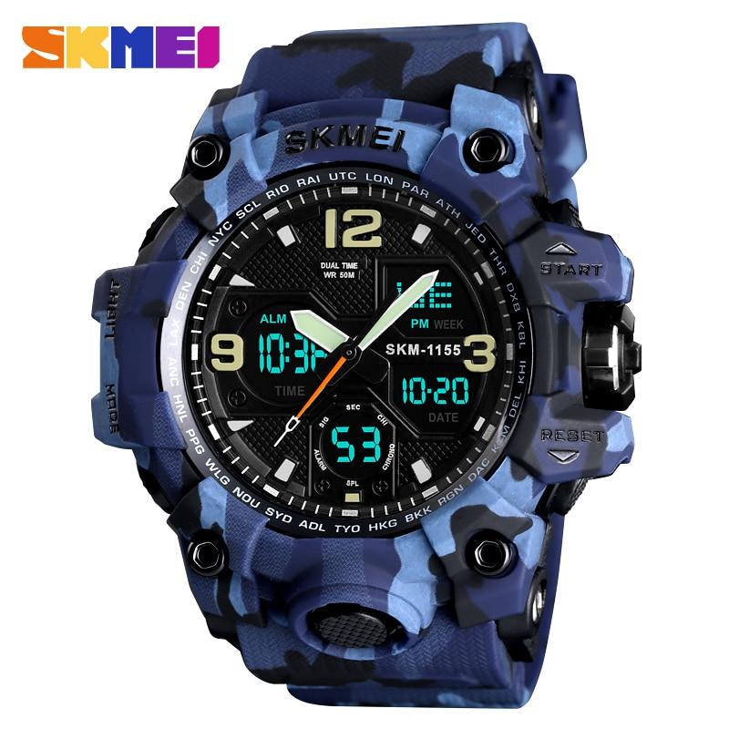 SKMEI Top Luxury Military Army Camo Sports Watches Men Quartz Digital Waterproof Sport Watch Male relogios masculino Wristwatch