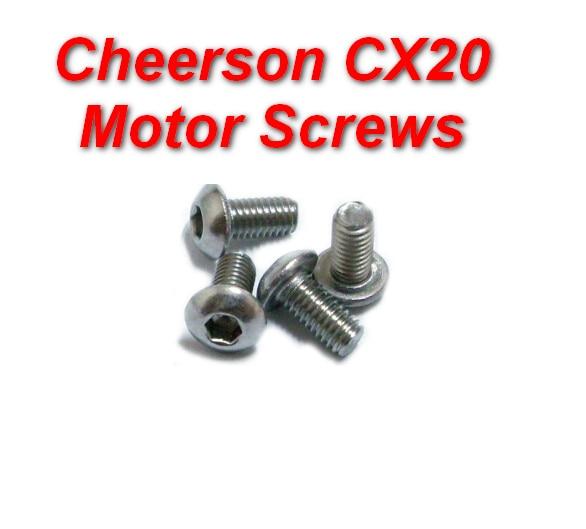 100% original fixar os parafusos do motor set rc quadcopter cheerson cx-20 cx20 cx parafusos de fixação de peças de reposição 20 rc zangão
