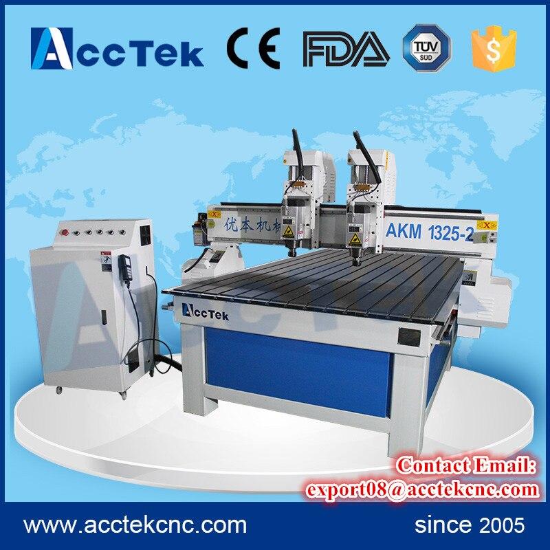 Enrutador de grabado de madera Jinan 1325 máquina de grabado cnc con multihusillo precio