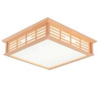 Minimalist led ceiling light living room bedroom lamp fixture Japanese tatami wooden ceiling lamp