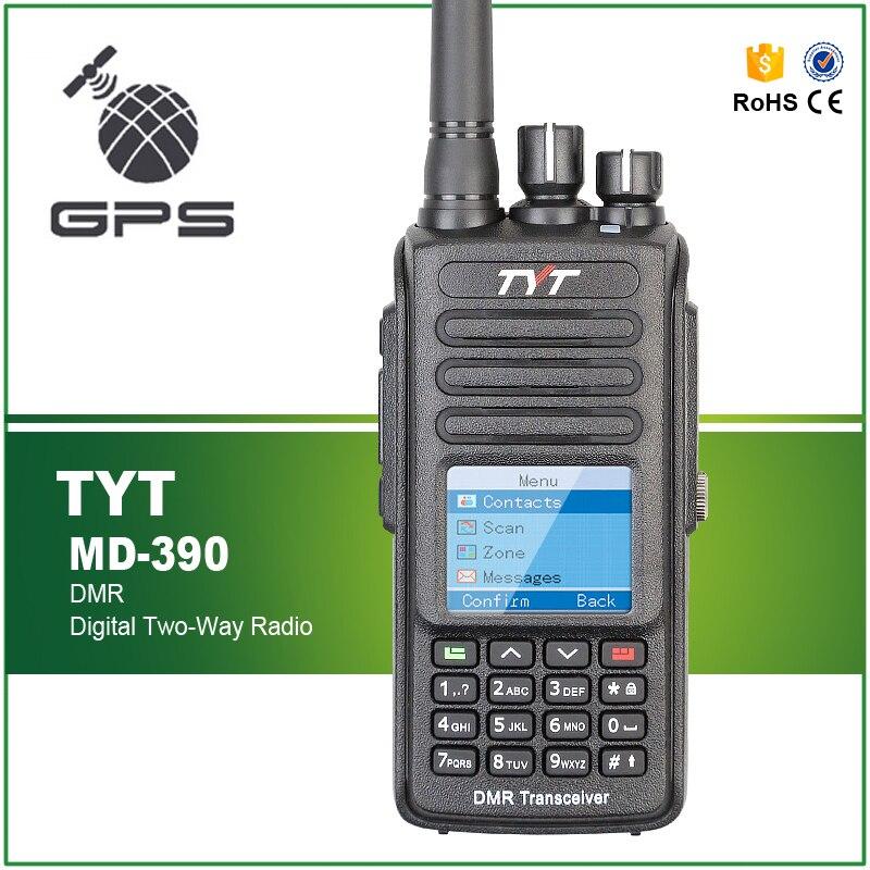 tyt md 390 ip67 com gps uhf 400 480mhz 2200mah 1000ch dmr digital 2 way radio md390 com cabo pro
