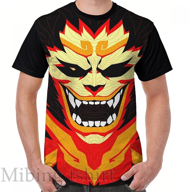 Funny print men t shirt women Tops tee Jurn-E - Munk-E KING Graphic T-Shirt O-neck Short Sleeve Casual tshirts