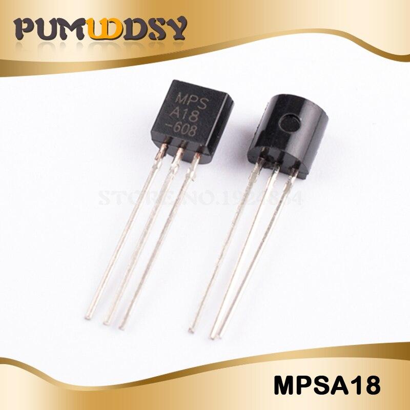 50 Uds MPSA18 A18 a 92 transistores bipolares-transistores de empalme 200mA 45V NPN