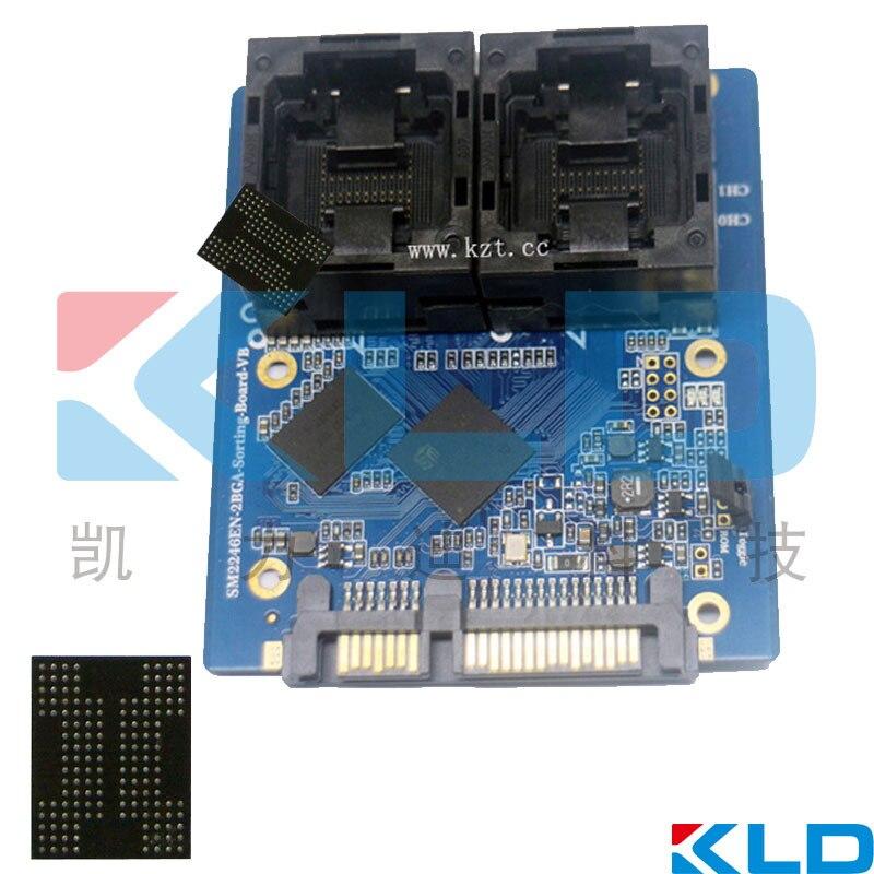 SSD Socket Test/Jig universal para BGA88/BGA132/BGA152, PEI, material PPS vida mais longa, a Parte Superior Aberta