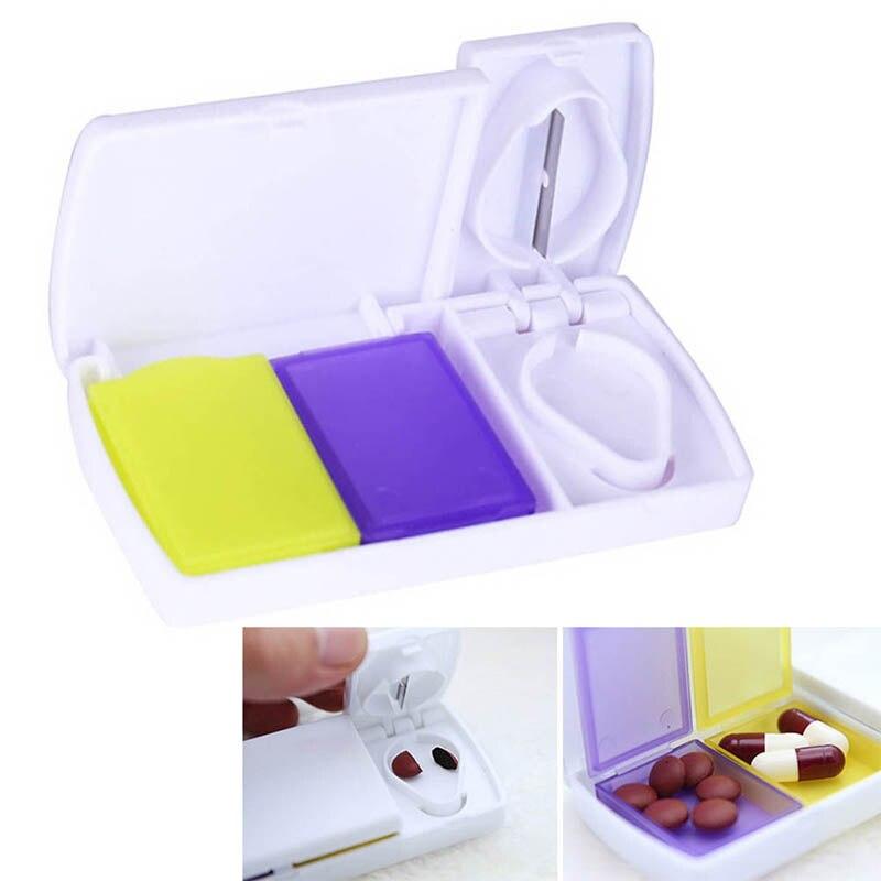 1 шт., умные Чехлы для таблеток, контейнер для хранения таблеток, разделитель для лекарств, разделитель разделяющего отсека, нож для разрезания таблеток