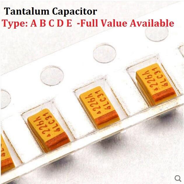 10 Uds tantalio Tipo de condensador un 476 de 6,3 V 47UF 6,3 V SMD 3216 capacitancia 6.3V47UF 1206 condensadores 47UF6.3V