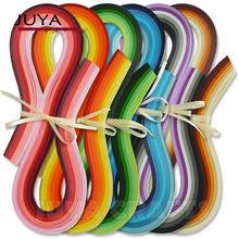 JUYA-Quilling de papier 36 couleurs   540mm de long, 3/5/7/10mm de largeur, 720 bandes de papier pour bricolage total, artisanat en papier fait main