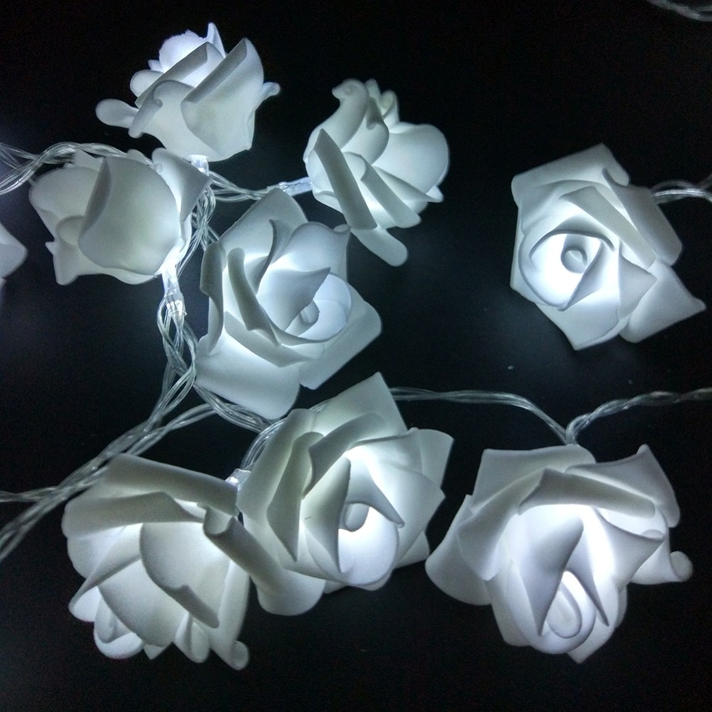 YIYANG 1,5 м 10led AA батарея светодиодные розы Рождественские огни праздничные гирлянды на День святого Валентина свадебные украшения цветочные лампы светодиодные лампы