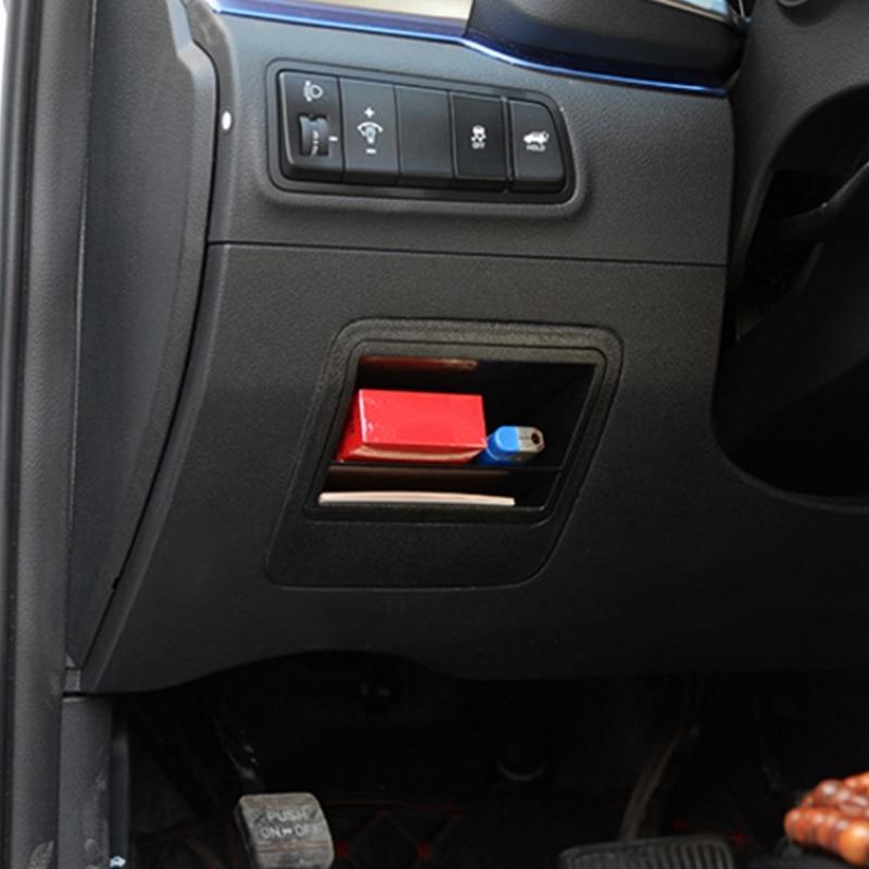 Quente novo 1 pc carro auto caixa de armazenamento fusível interno bin caso slot para cartão titular para hyundai tucson 2016 2017