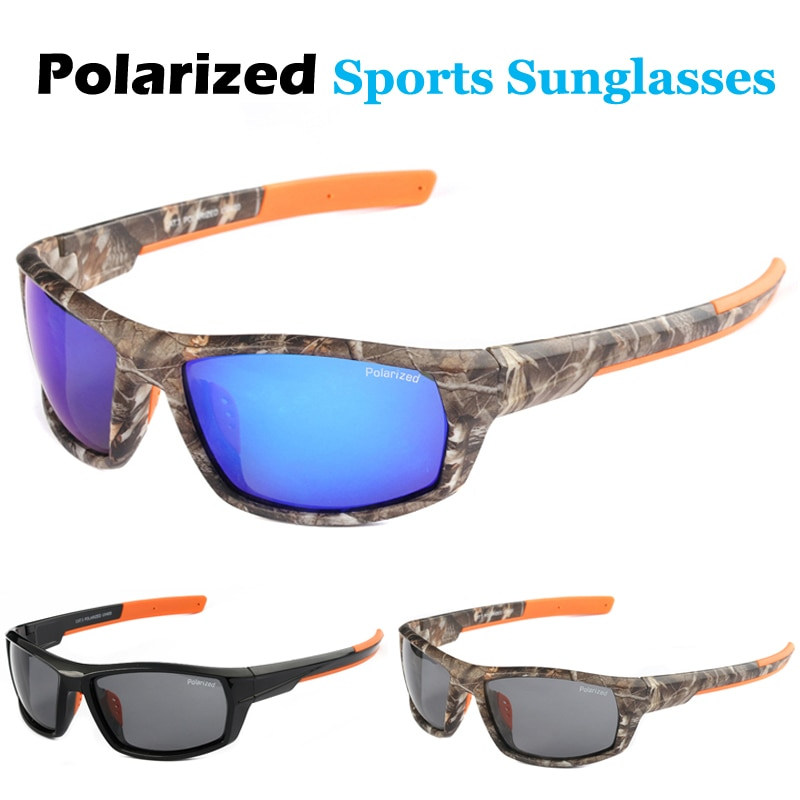 New Men's Goggles Polarized Driving Sunglasses Camo Frame Sun Glasses Cycling Fishing Hunting Eyewea