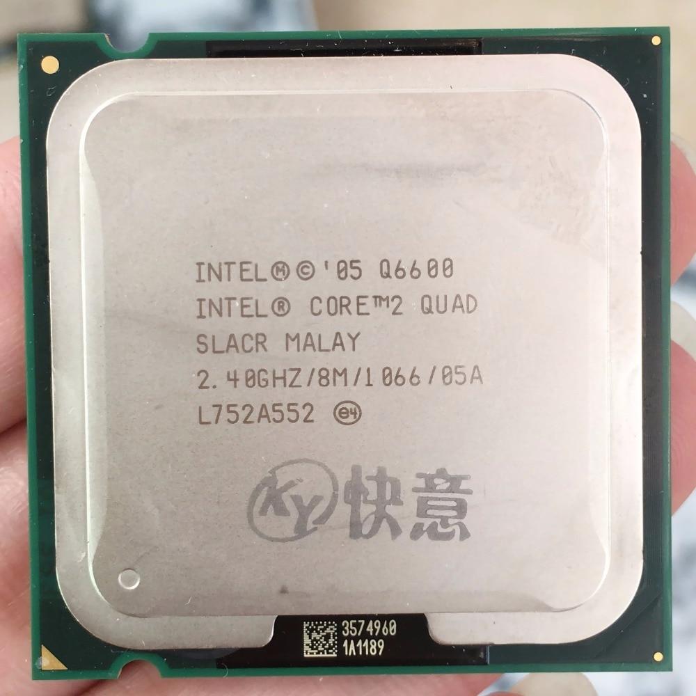 Intel Core2 Quad İşlemci Q6600 CPU 95 W 105 W (8 M Cache, 2.40 GHz, 1066 MHz FSB) SLACR SL9UM GITMEK LGA775 Masaüstü CPU