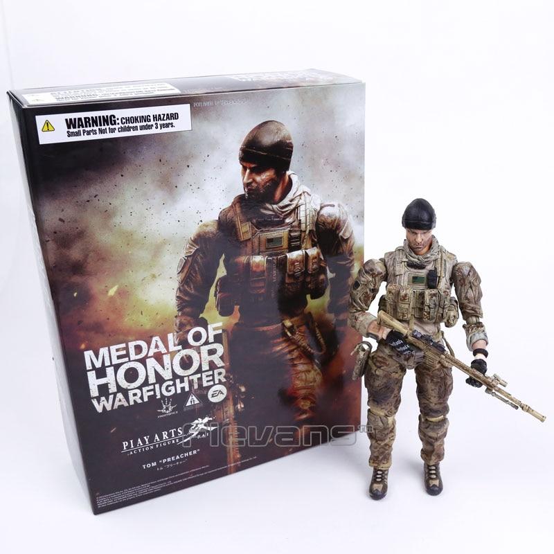 Juguete modelo coleccionable de figuras de acción de PVC de Tom Preacher del guerrero de la Medalla de Honor de las Artes del juego