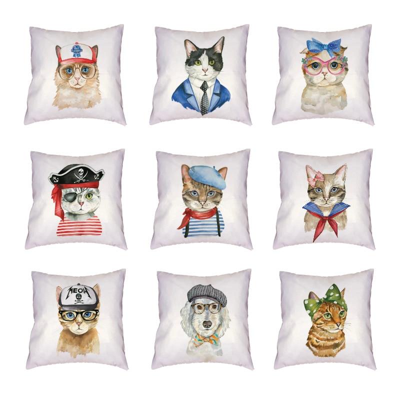 Черно-белая кошка Косплей белая наволочка красная Геометрическая полоска красота стул домашний декор персиковая кожа дети пледы наволочка
