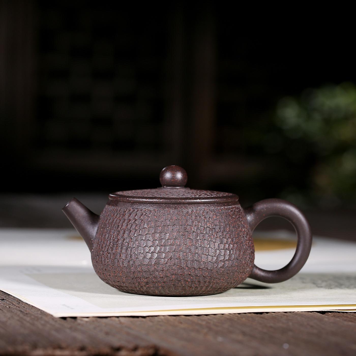 Tetera Yixing, Oro Negro, solo Manual completo, cielo estrellado, tetera Kungfu, juego de té de viaje en línea, regalo, infusión de tetera de té al por mayor