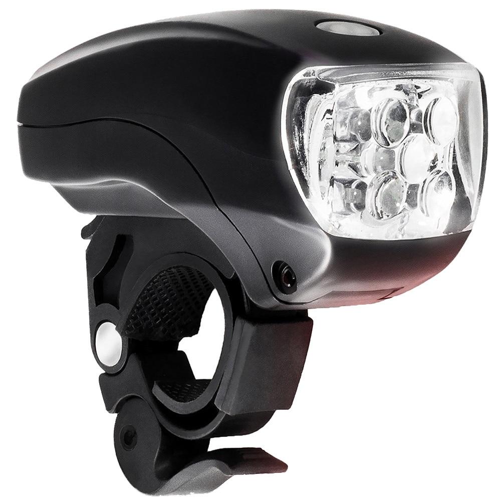 Nueva bicicleta de ciclismo súper brillante 5 LED faro delantero 3 modos antorcha Super brillante blanco LED NEGRO # BL5
