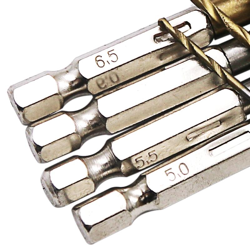 Set di punte da trapano rivestite in titanio in acciaio HSS 13 pezzi - Punta da trapano - Fotografia 5