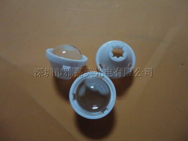Xp-g diámetro de la lente 17mm lente convexa de plástico (con soporte) lente de condensador 5 grados CREE xlámpara XPE/XPG-R5 lente LED