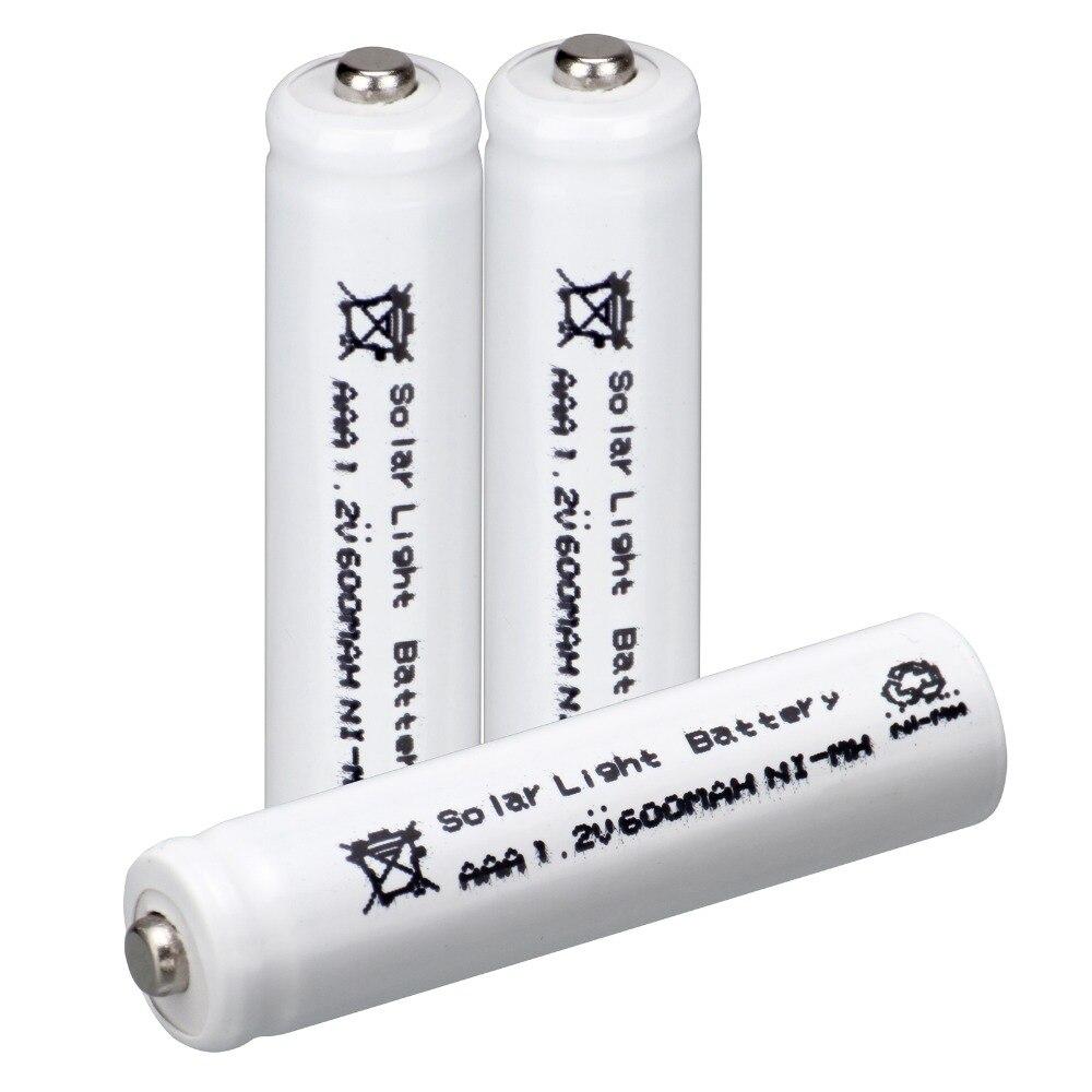 3pcs AAA solar battery Solar Light Batteries Rechargeable 1.2V 600mAh For Garden Lights-white color