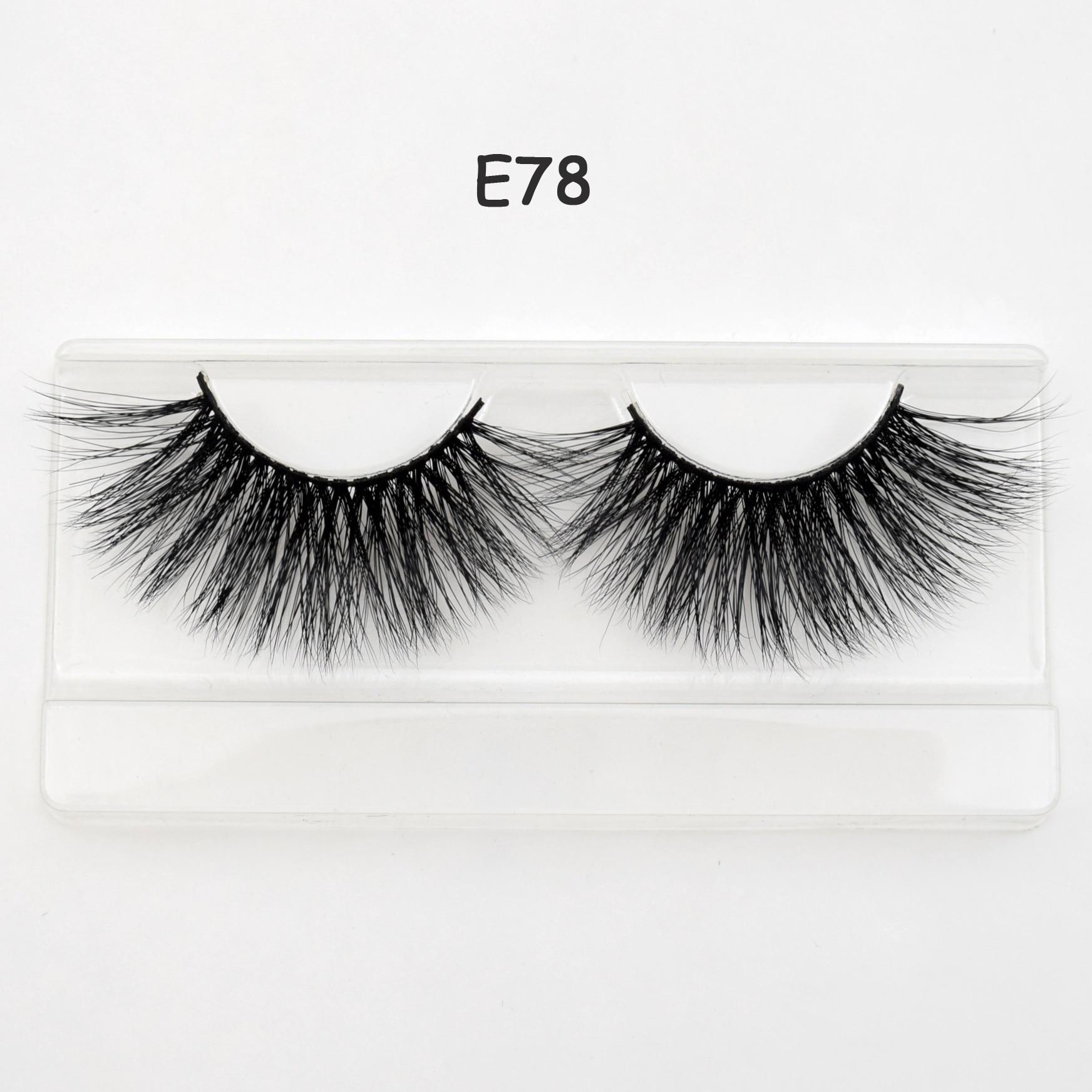 Visofree 25mm Lashes Dramatic 3D Mink Lashes Long False Eyelashes Makeup Fake Eye Lashes Extension E