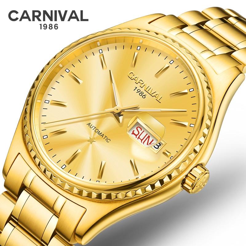High End CARNIVAL Men's Watches Luxury MIYOTA Automatic Watch Men Sapphire Waterproof Full Steel Mechanical Business Sport Watch