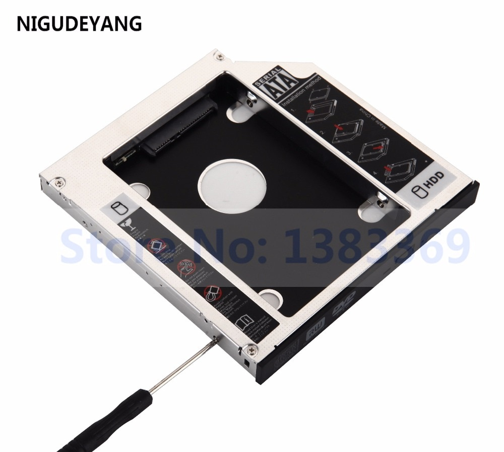 Nuevo disco duro NIGUDEYANG 2nd SSD HDD HD SSD Caddy adaptador SATA para 12,7mm CD/DVD-ROM Bahía óptica Caddy universal