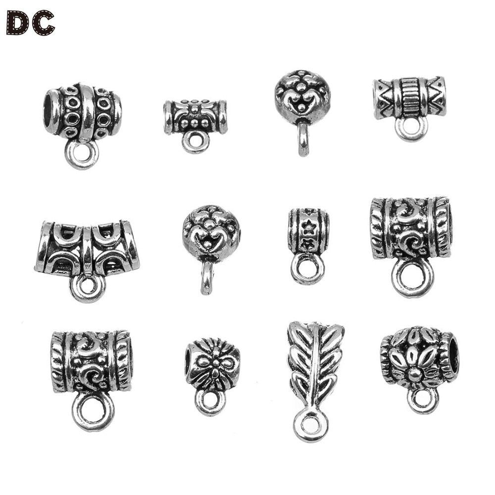 Lote de 20 unidades de DC, abalorios de Clip a la moda, suministros DIY, accesorios de joyería, Clips colgantes, pendientes, broches para fabricación de joyas