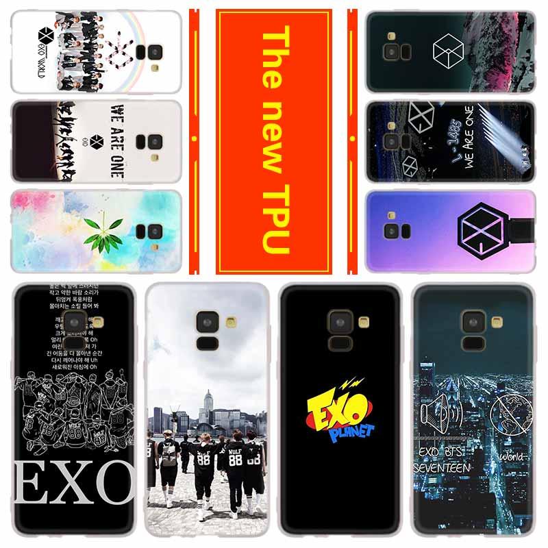 Teléfono para Samsung Galaxy J6 J4 más J8 J3 J7 2018 J5 J3 j7 2017 2016 j6 Primer Caso EXO banda
