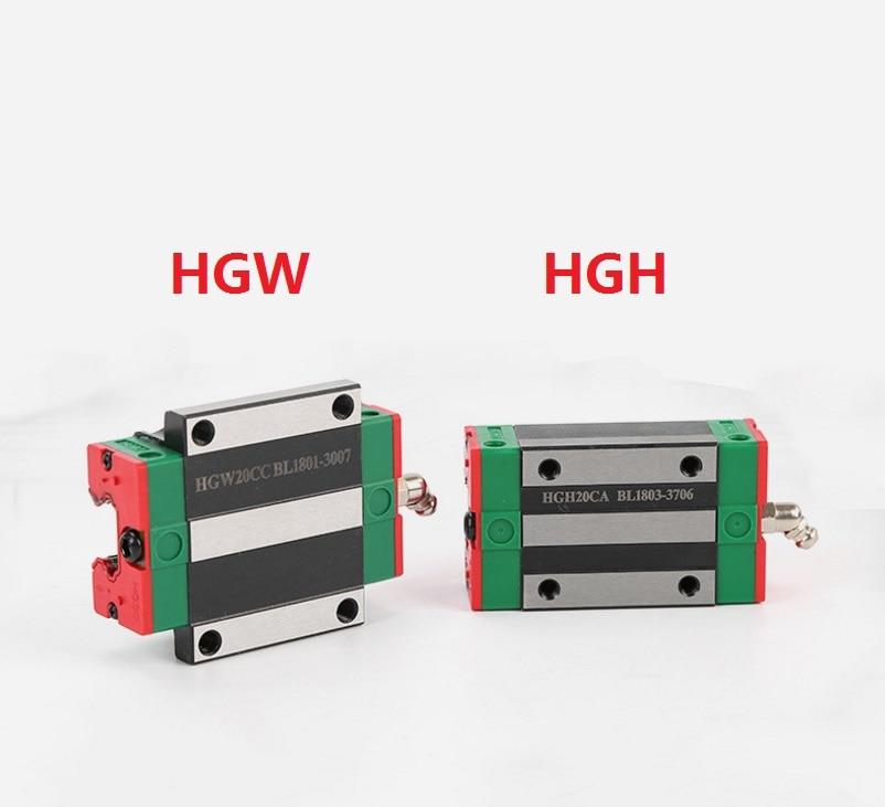 2 pçs/lote HGH15CA HGH20CA HGW15CA (HGW15CC) HGW20CA (HGW20CC) deslizante Carro Bloco de 15mm/20mm Linear Rail Guia China Fez