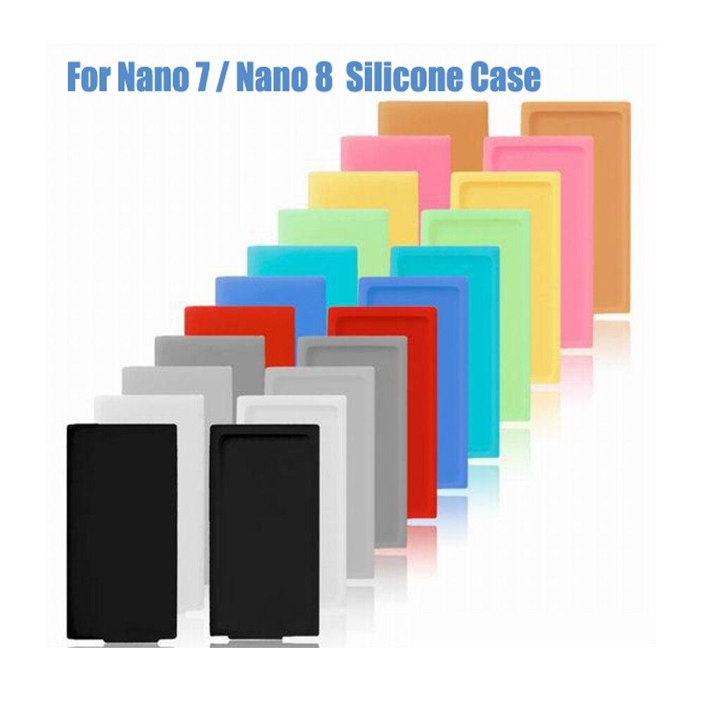 Capa de borracha macia de silicone para apple ipod nano 7 8 7th 8th geração 16 gb 64 gb azul rosa