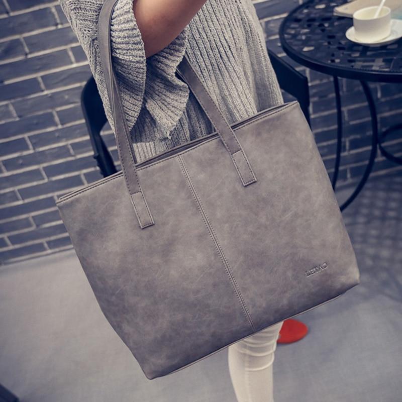 Bolso de mano para mujer, de piel, negro, gris, informal, de gran capacidad, para hombro, bolsos de compras de lujo, bolsos de diseño para mujer