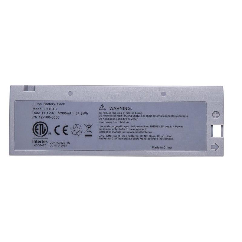 Mejor 5200mAH nueva ECG batería para BIOLIGHT M8000 M9000 M9000A M9500 M66 Argus LMS-10 LI1104C 12-100-0006