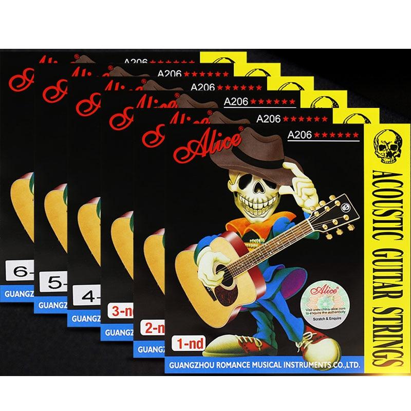 6 шт./компл. Alice акустические гитарные струны 1st/2nd/3rd/4th/5th/6th Высокое качество Аксессуары для гитар струны