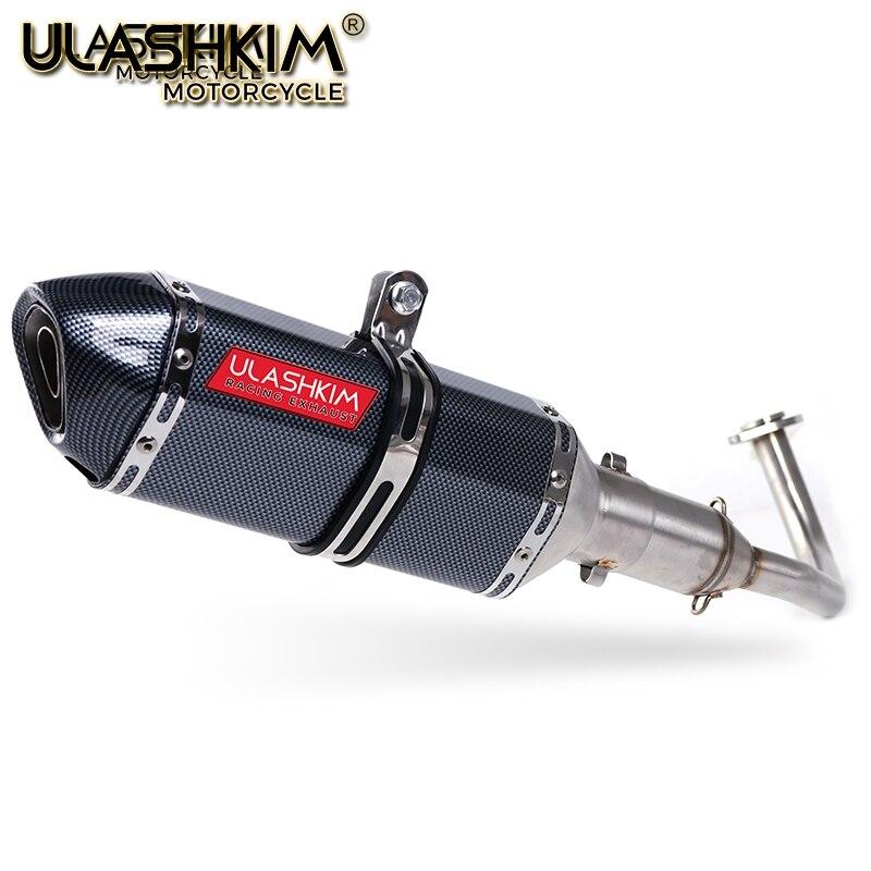 PCX 125 150, silenciador de Escape para motocicleta, sistema completo de Escape de tubo medio antideslizante para HONDA PCX125 PCX150 2014-2017