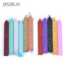 12 couleurs nouveau cordon traditionnel mèche Vintage étanchéité cire bâtons pour affranchissement enveloppe de mariage Invitation timbre papeterie ensemble