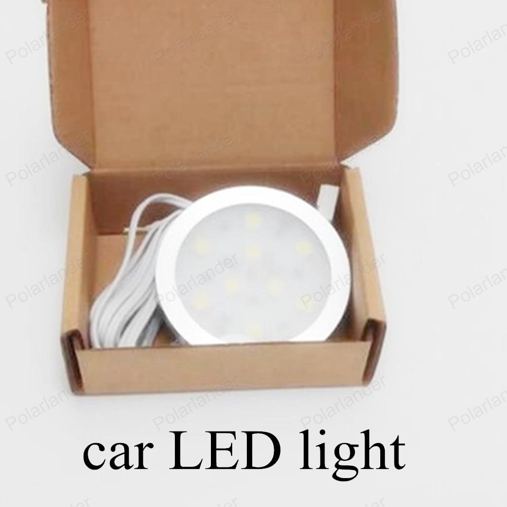 6x PICS high quality Aluminum warm White car lights 12V Safety 9 LEDS light car Light 3pairs auto Lamp Free Shipping